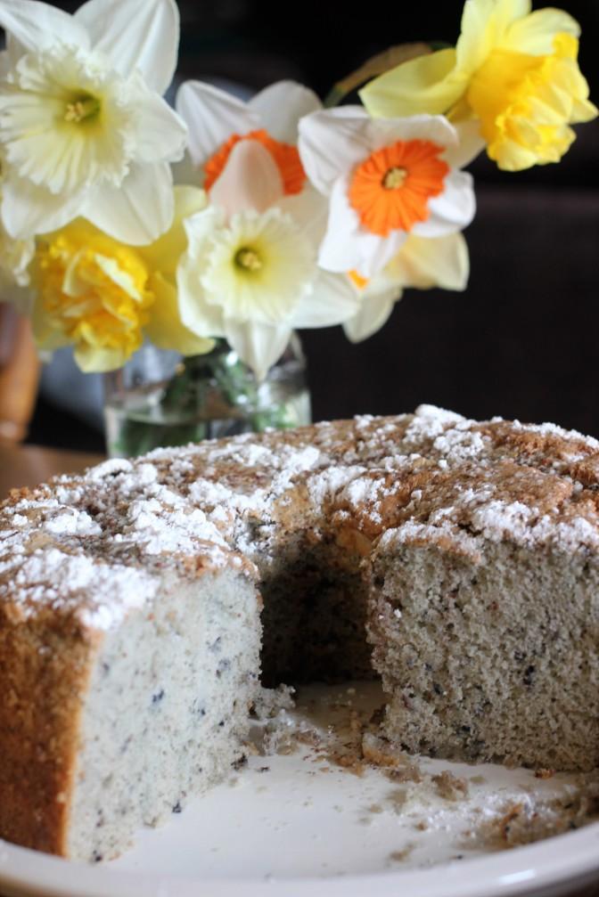 Blueberry Spice Chiffon Cake